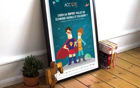 Affiche Acc'ESS - CREDIS et CRESS Auvergne