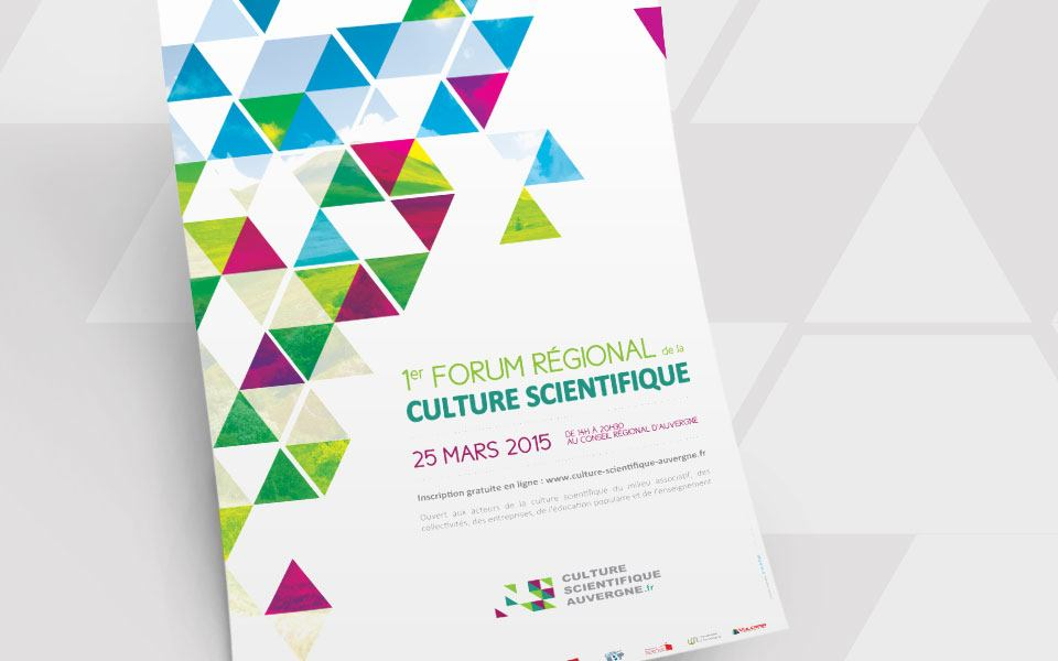 Affiche Forum de la Culture Scientifique en Auvergne - Astu'Sciences