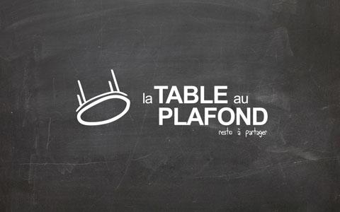 Logo et identité visuelle - La table au plafond