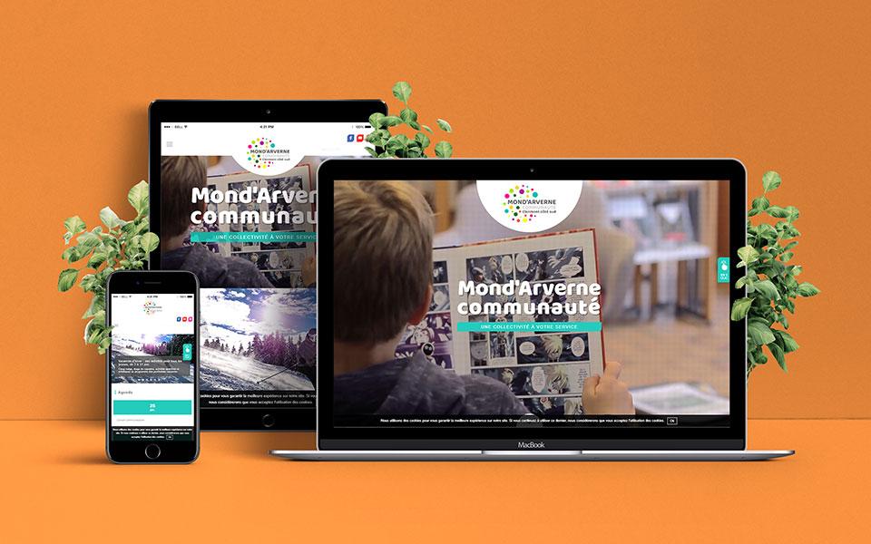 Site Internet - Mond'Arverne Communauté